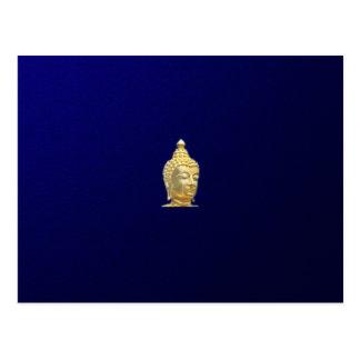 goldener Buddha im Blau Postkarte