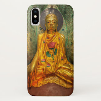 Goldener Buddha im Tempel iPhone X Hülle