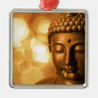 Goldener Buddha Silbernes Ornament