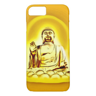 Goldener Buddha-Spritzpistolen-Kunst iPhone 7 iPhone 8/7 Hülle