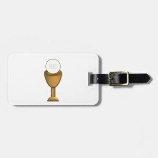 Goldener Chalice und Wirt - heilige Kommunion Gepäckanhänger