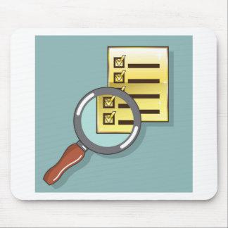 Goldener Checklisten-Lupenlautes summen Vektor Mousepads