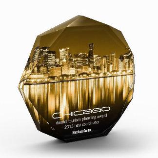 goldener Chicago-Preis Acryl Auszeichnung