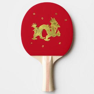 Goldener chinesischer Drache Tischtennis Schläger
