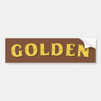 Goldener Colorado-Autoaufkleber Autoaufkleber