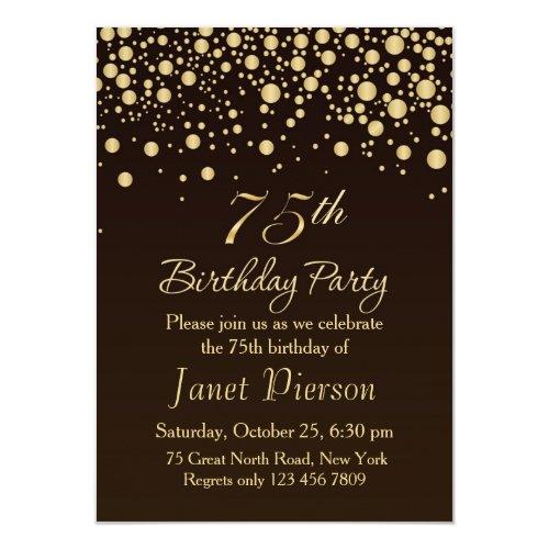 braune Einladungen zum Geburtstag | meine-Einladungskarten.de