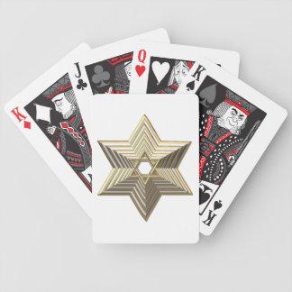Goldener Davidsstern Bicycle Spielkarten