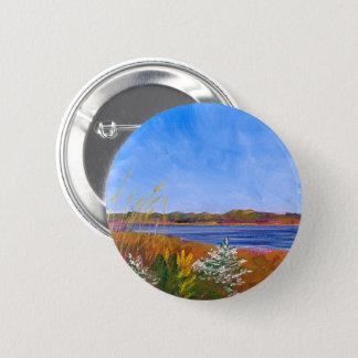 Goldener Delaware River Runder Button 5,1 Cm