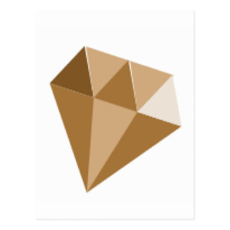 Goldener Diamant Postkarte