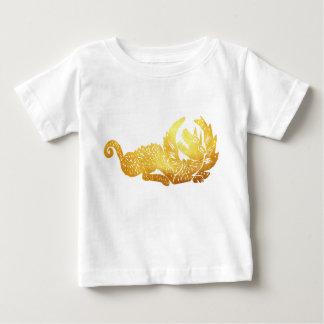 Goldener Drache-Baby-Geldstrafe-Jersey-T - Shirt