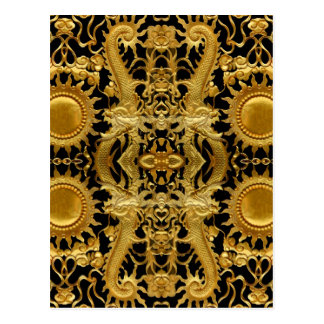 goldener Drache Postkarte