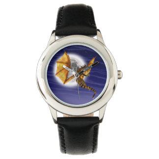 Goldener Drache Uhr
