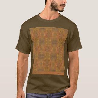Goldener Dunst abstrakt auf braunem T-Shirt