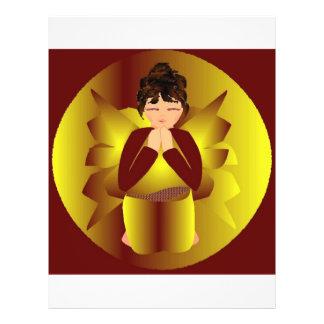 Goldener Engel III Bedruckte Flyer