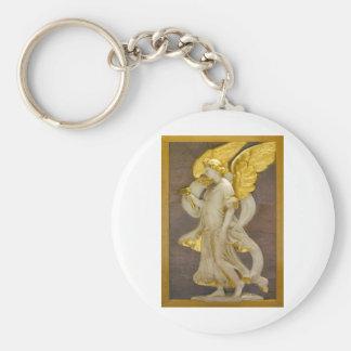 Goldener Engel Standard Runder Schlüsselanhänger
