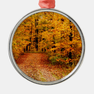 Goldener Fall auf St- Josephinsel Silbernes Ornament