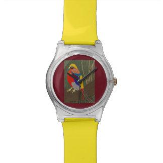 Goldener Fasan Armbanduhr