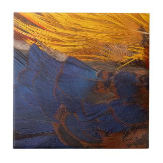Goldener Fasan-Feder abstrakt Keramikfliese