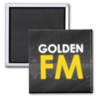 Goldener FM-Magnet Quadratischer Magnet