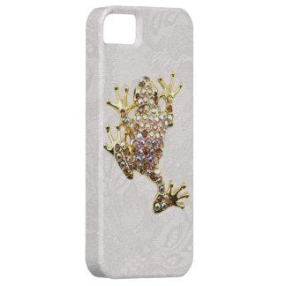 Goldener Frosch Spitze Edelsteine iPhone 5 Hülle