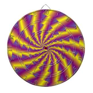 Goldener Frühlings-SpiraleDartboard Dartscheibe