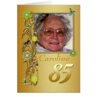 Goldener Garten-85. Foto-Geburtstags-Karte Grußkarte