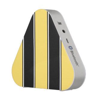 Goldener gelber und Schwarz-Gestreifter Bluetooth Bluetooth Lautsprecher