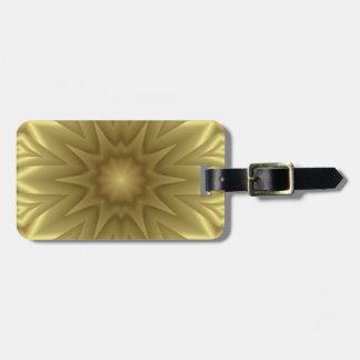 Goldener gelber Wellen-Muster-Reise Kofferanhänger
