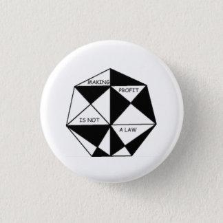 Goldener Gewinn Runder Button 2,5 Cm