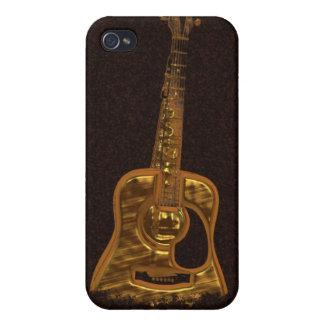 Goldener Gitarren-Musik-Instrument iPhone Kasten iPhone 4 Hülle
