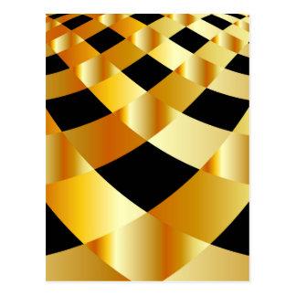 Goldener Gitterhintergrund Postkarte