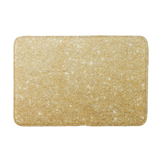 Goldener Glitter-Diamant Badematte
