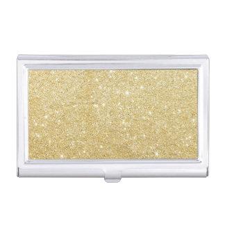 Goldener Glitter-Diamant Visitenkarten Etui