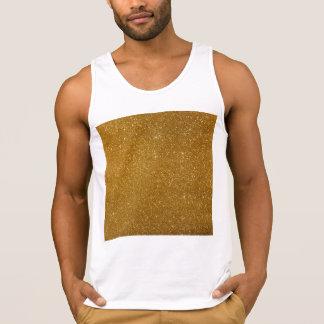 Goldener Glitter Tank Top