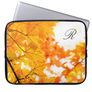 Goldener Herbst-Nachmittag Laptop Sleeve