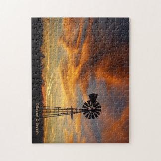 Goldener Himmel Kansas mit einer Puzzle
