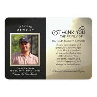 Goldener Himmel-kundenspezifisches Foto im 12,7 X 17,8 Cm Einladungskarte