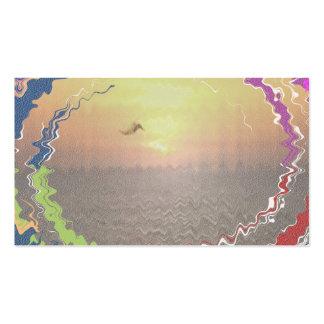 Goldener Himmel-Sonnenuntergang Visitenkarten