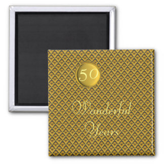 Goldener Hochzeitstag Quadratischer Magnet
