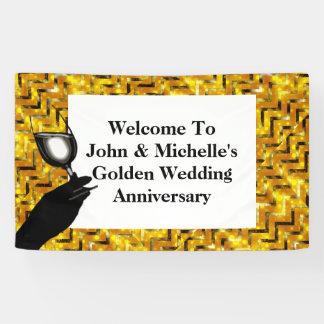 Goldener Hochzeitstagtoast | personifizieren Banner