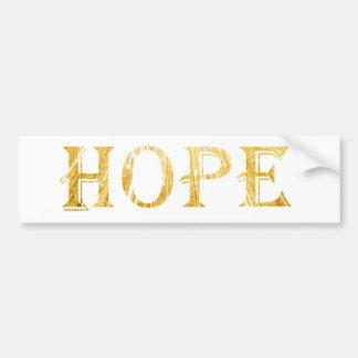 Goldener Hoffnungs-Text-Autoaufkleber Autoaufkleber