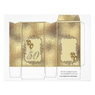 Goldener Jahrestags-50. Klemmkasten-Gastgeschenke 21,6 X 27,9 Cm Flyer