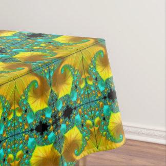 Goldener Kegel-Tischdecke-Esszimmer-Entwurf Tischdecke