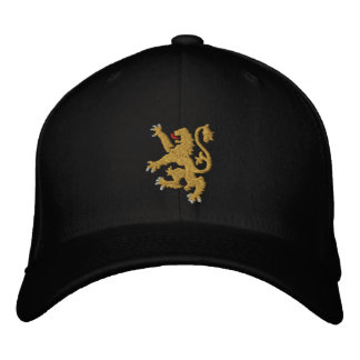 Goldener Löwe gestickter König von Königen Cap Bestickte Baseballkappen