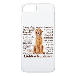 Goldener Merkmal-Smartphone-Kasten iPhone 8/7 Hülle
