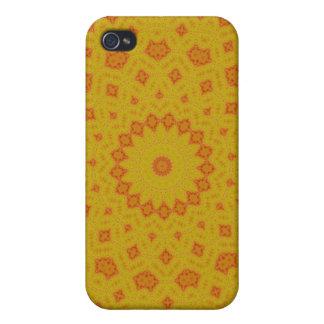 Goldener Muster-Speck-Kasten iPhone 4/4S Hülle