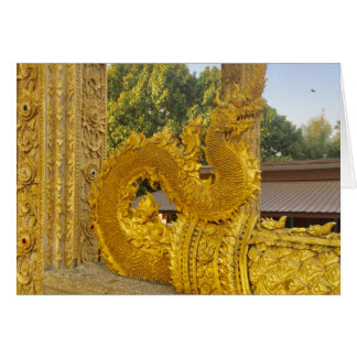 Goldener Naga im Chiang Mai, Thailand Karte