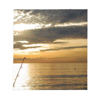 goldener pazifischer Sonnenuntergang Notizblock