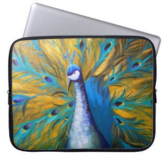 Goldener Pfau - Kunst Kimberlys Turnbull Laptop Sleeve