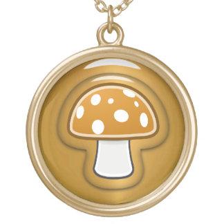 Goldener Pilz Vergoldete Kette